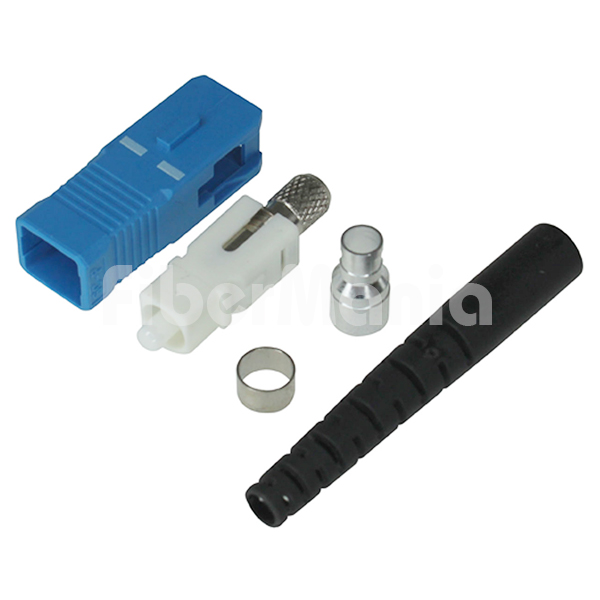 Sc Connector Single Mode Blue Housing 3 0mm Black Boot