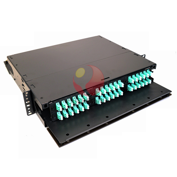 2u 19 Lgx Fiber Optic Patch Panel Loaded With 6 Lc