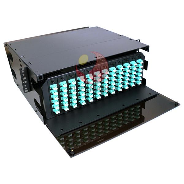 4u 19 Lgx Fiber Optic Patch Panel Loaded With 12 Lc